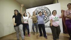 Ensayando el espectáculo del Teatro Quijano