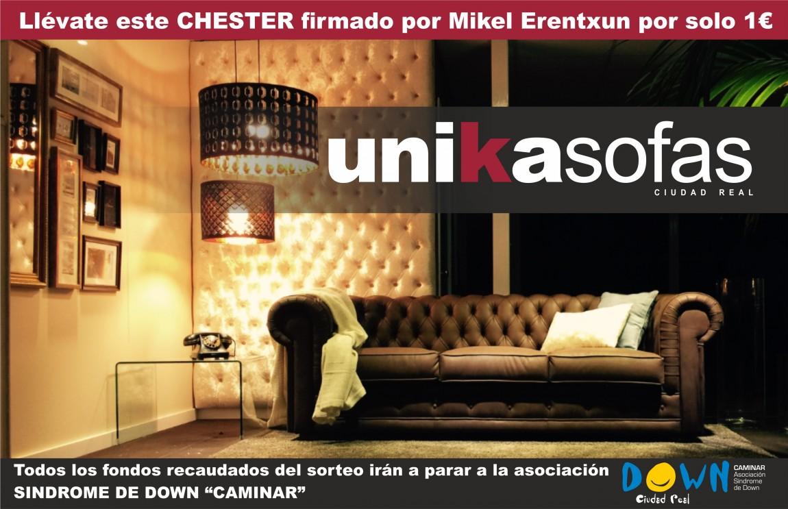 UNIKASOFÁS Y EL CHESTER SOLIDARIO FIRMADO POR MIKEL ERENTXUN
