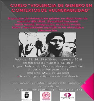 """ASISTIMOS AL CURSO """"VIOLENCIA DE GÉNERO EN CONTEXTOS DE VULNERABILIDAD"""""""
