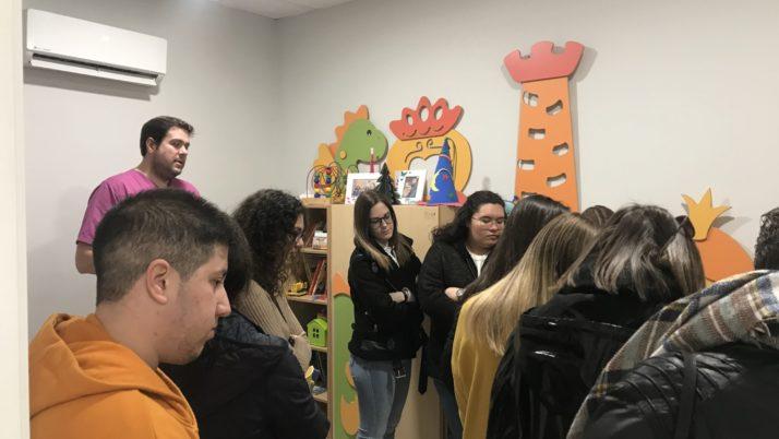 Visita de los alumnos del IES Atenea